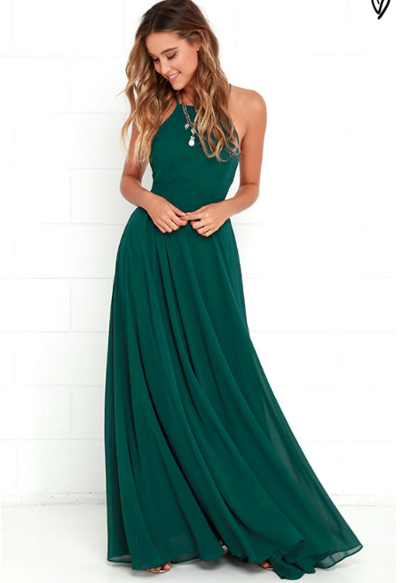 Simple Prom Dressbackless Prom Dressmodest Prom Dressgreen