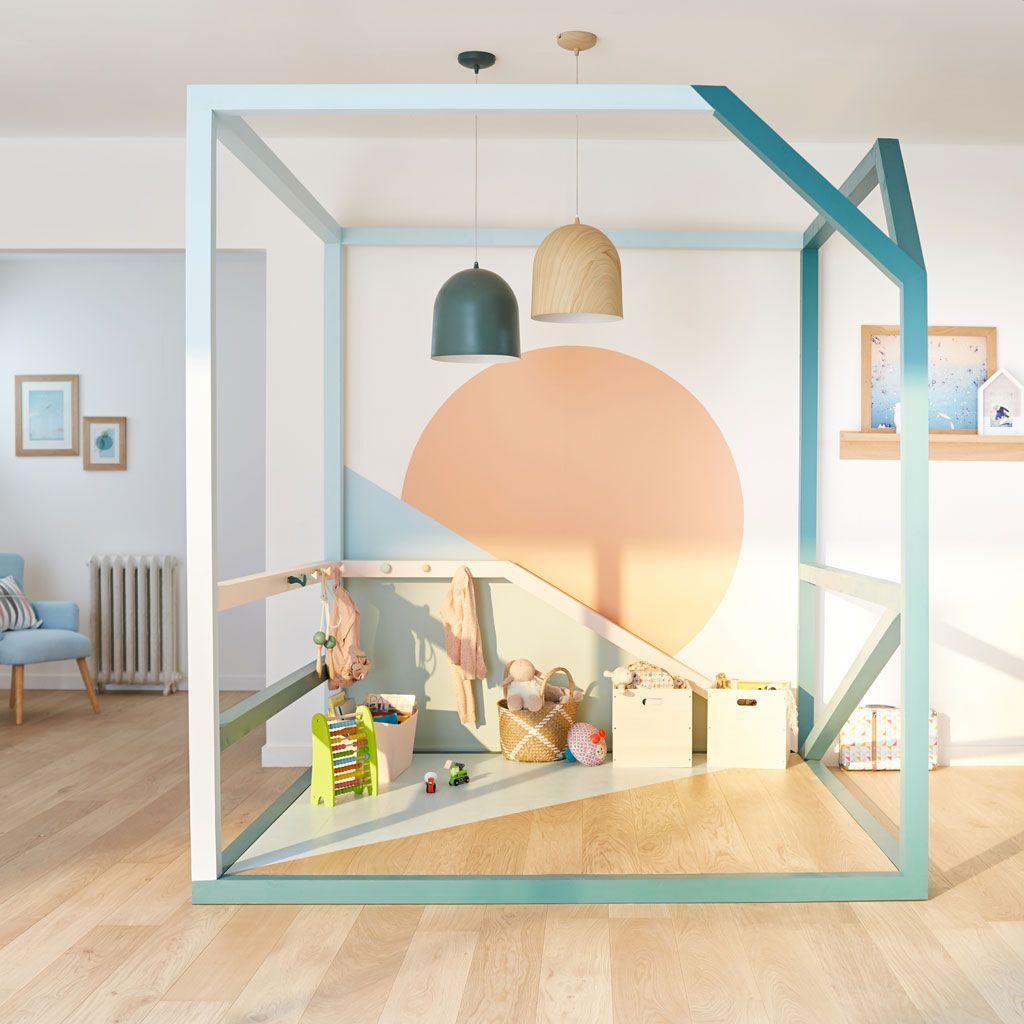 Leroy Merlin Chambre Enfant un espace de jeux pour les enfants bien délimité