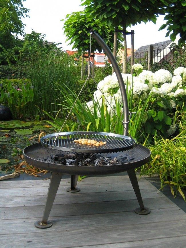 schwenkgrill au feu de bois schwenkgrill nielsen fire pit barbecue pinterest barbecues. Black Bedroom Furniture Sets. Home Design Ideas