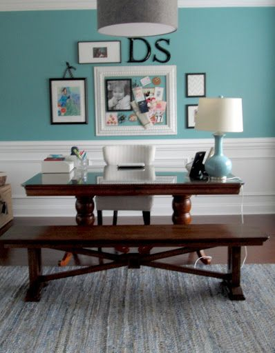 Turning A Formal Dining Room Into Home Office