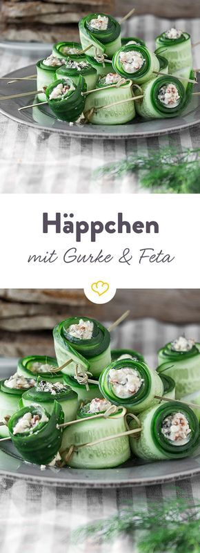Gurken-Feta-Röllchen