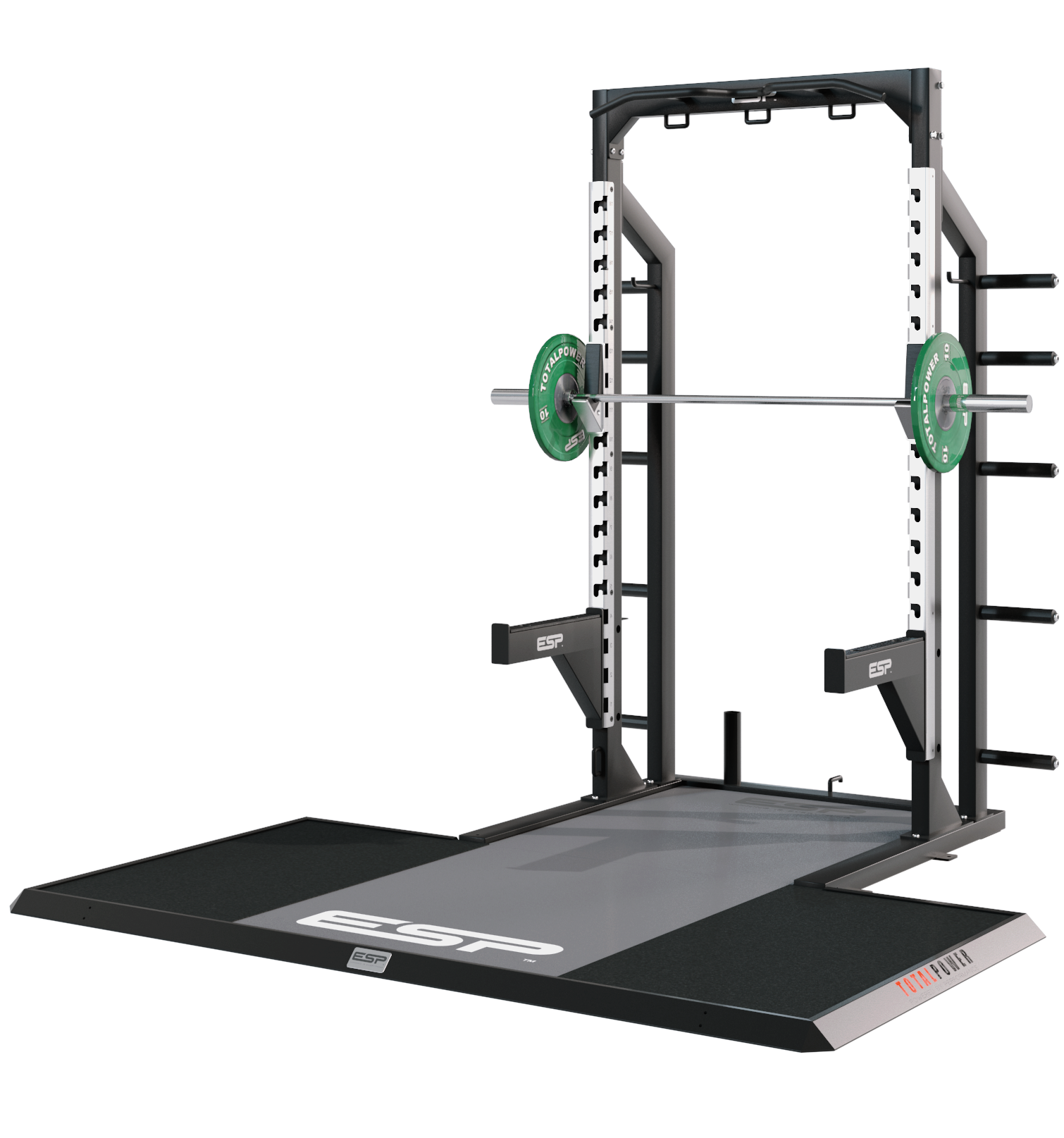 ESP Fitness pact Lifting Platform with ESP Half Rack The Half