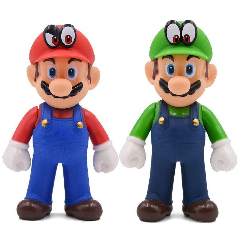 13cm Super Mario Figures Toys Super Mario Bros Bowser Luigi Koopa