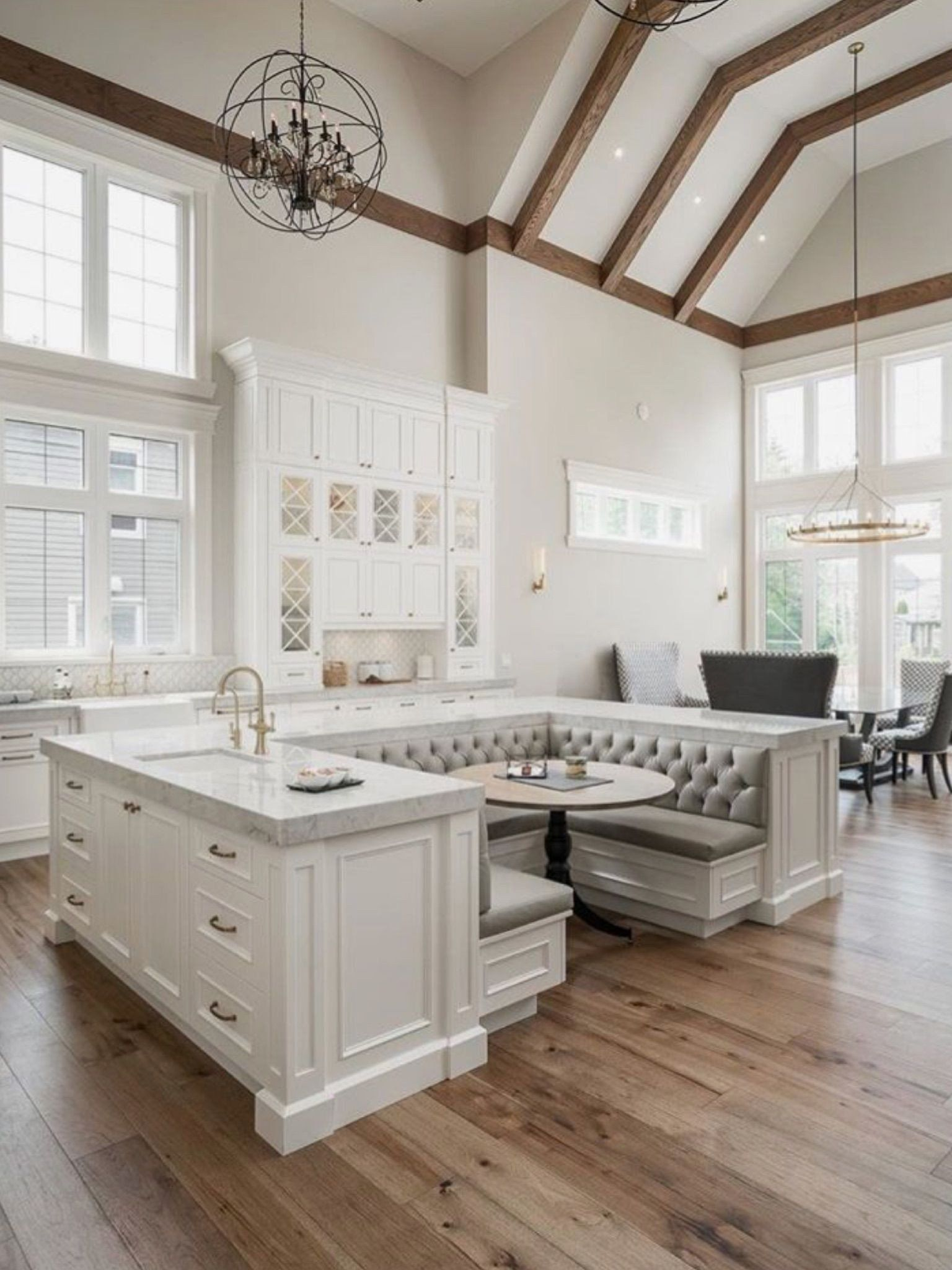 Kitchen Center Island With Seating Fresh Built In Breakfast Booth Nook In Center Of K Booth Seating In Kitchen Kitchen Island Bench Kitchen Island With Seating