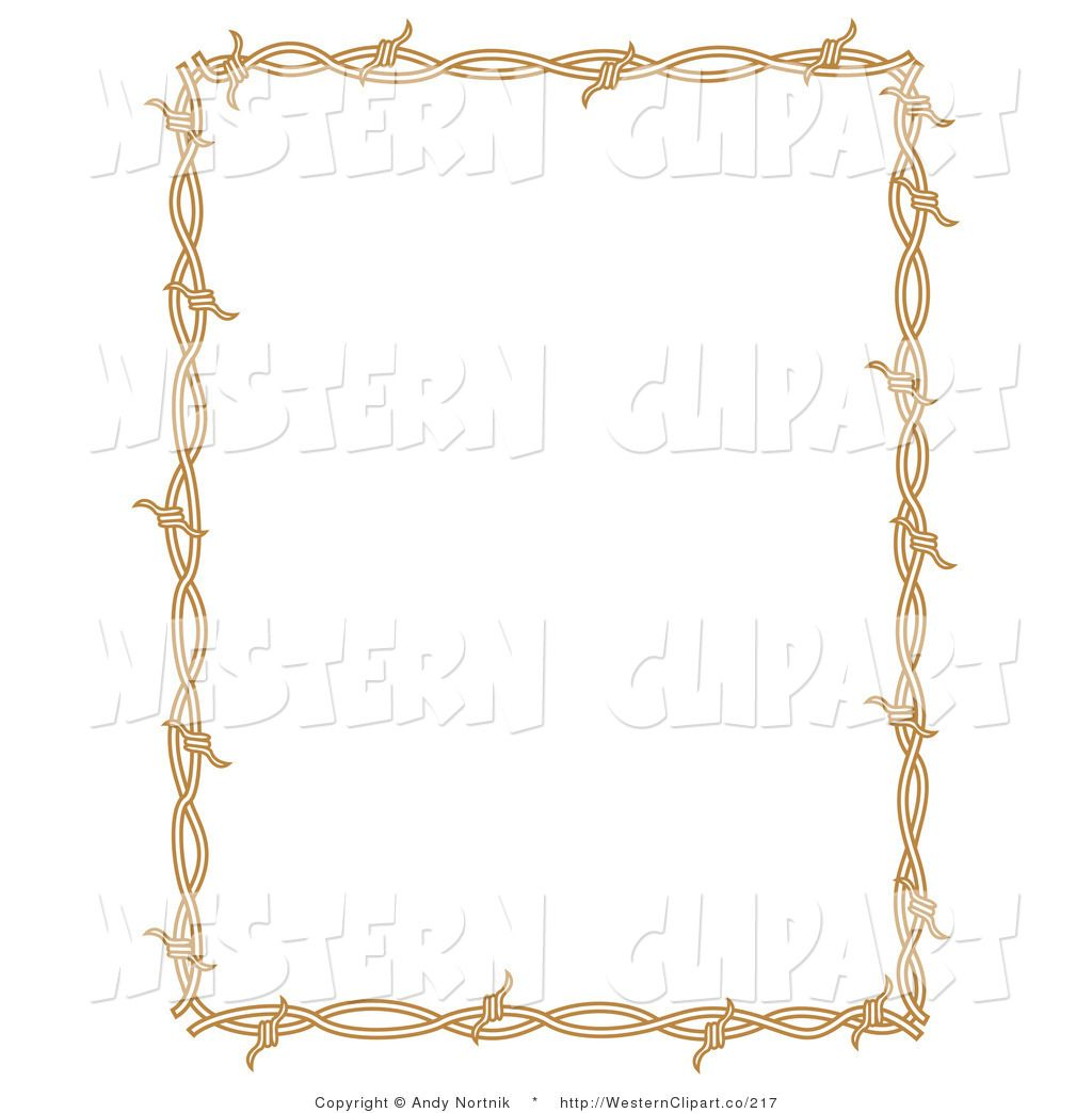Western Borders Vector Western Clip Art Of A Brown Rectangle Border Frame Of Barbed Western Clip Art Clip Art Borders Clip Art