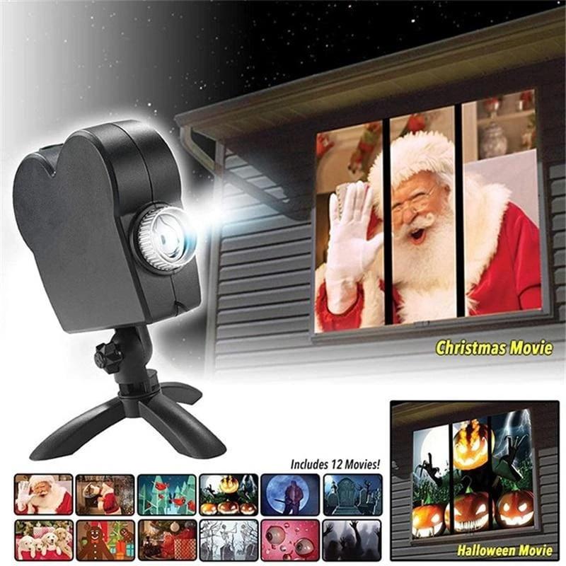 Halloween & Christmas Window Projector in 2020 Window