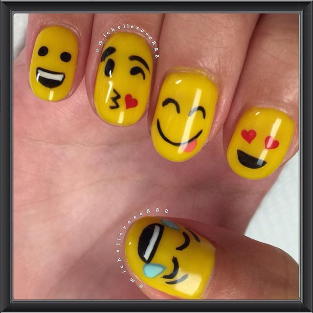 Instagram media michellerose222 - emoji #nail #nails #nailart | Me ...