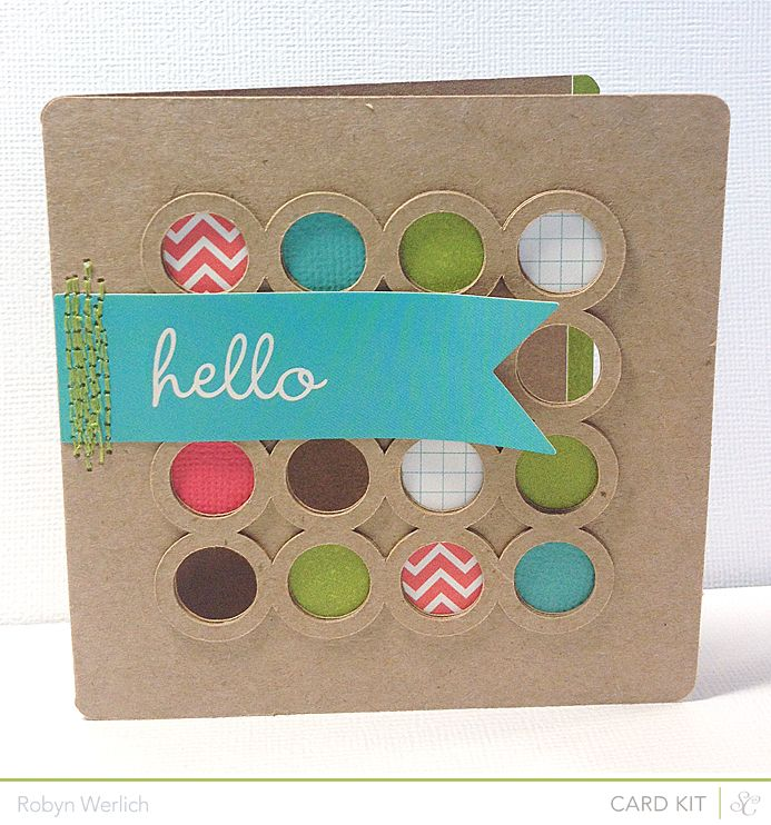 hello card with little circles