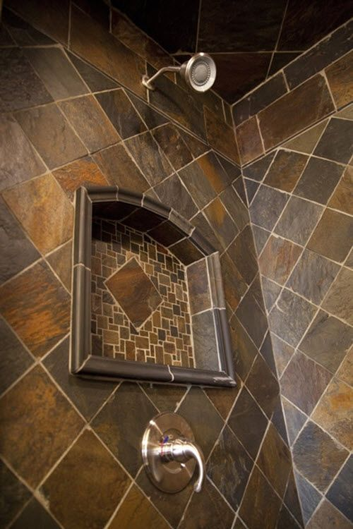 35 Grey Brown Bathroom Tiles Ideas And Pictures Slate Bathroom Trendy Bathroom Tiles Bath Remodel