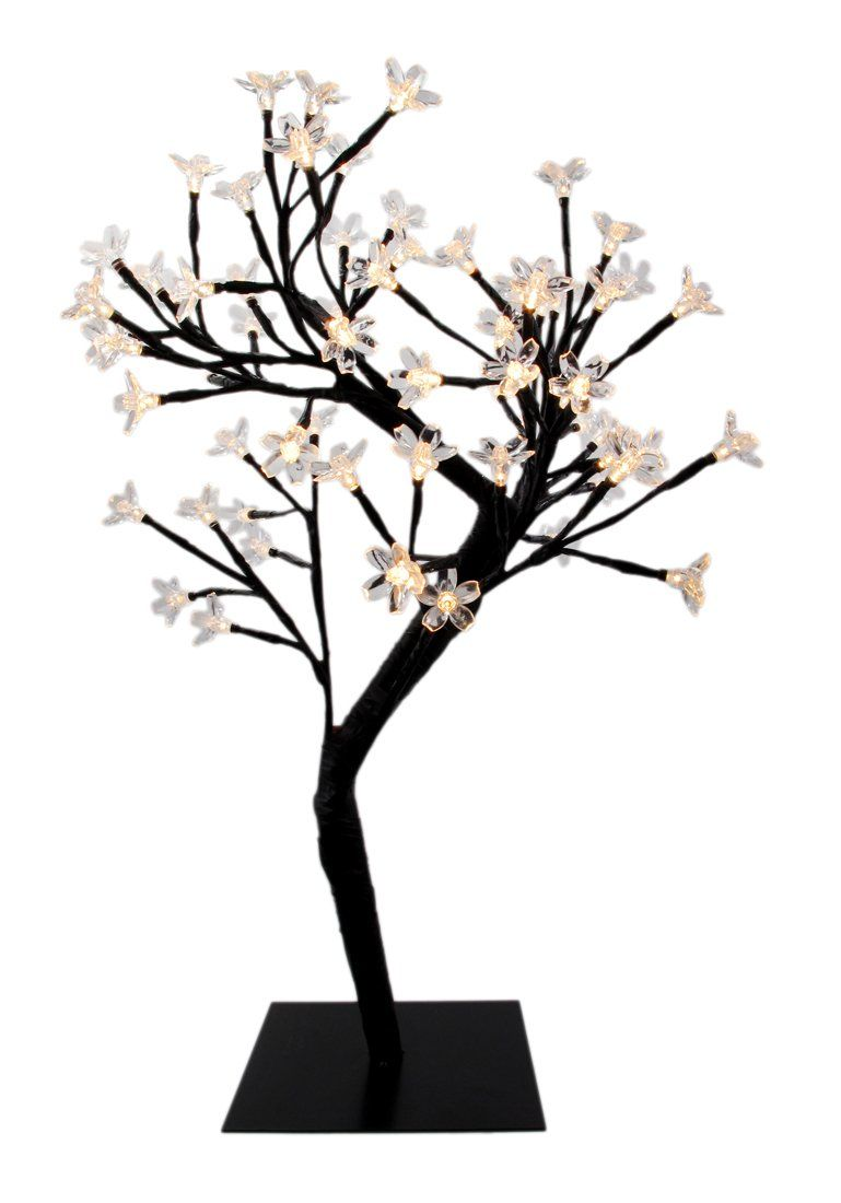 Creative Motion 64 Piece Warm Led Lights Desk Top Cherry Blossom Tree Flower Lights Decorative Table Lamps Blue Led Lights