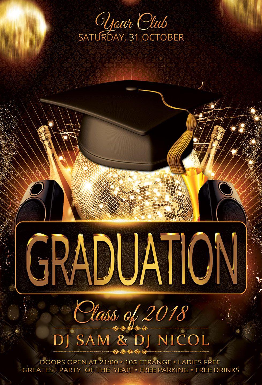 Graduation Party Flyer Template Prom Graduation Party Flyer