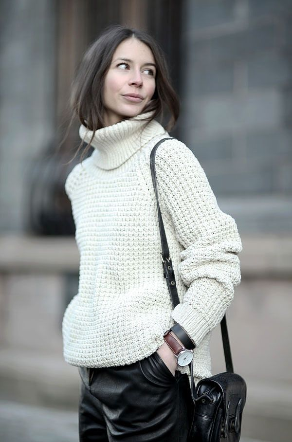 box knit, chic, cream, knitwear