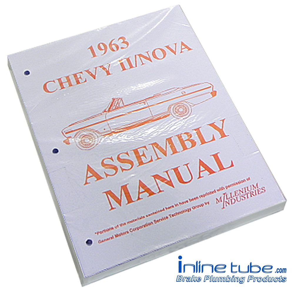 Truck Parts · Antique Cars · Books · User Guide · Retro Cars · 1963  Chevrolet Nova Chevy II 2 Factory Assembly Rebuild Instruction Manual Book