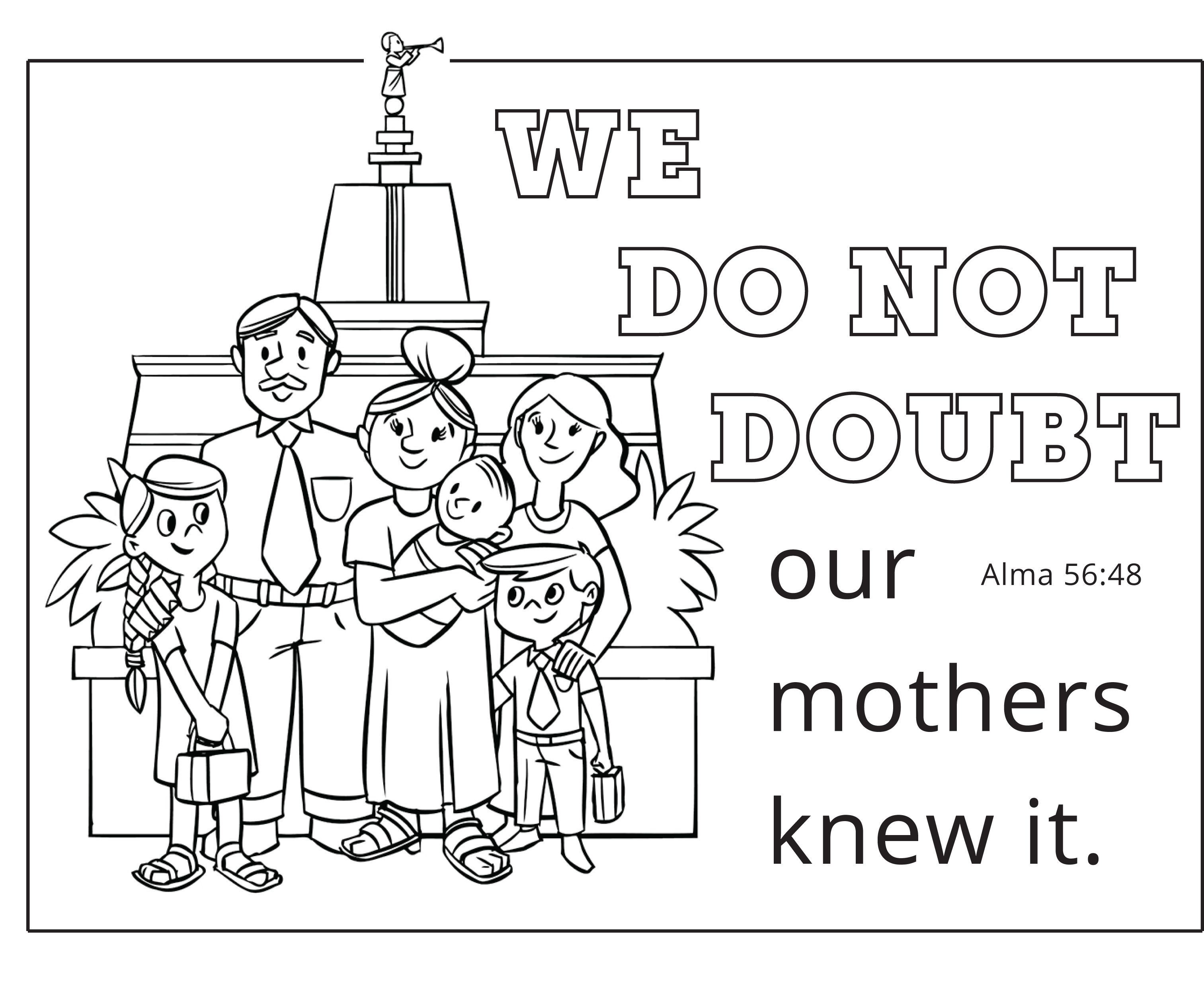 Love This Lds Mother S Day Printable We Do Not Doubt