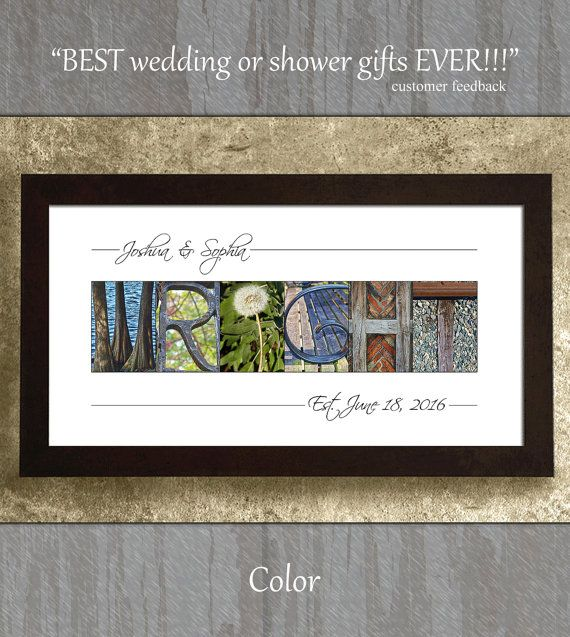 Wedding Gift For Bride Alphabet Photography Letters Last Name