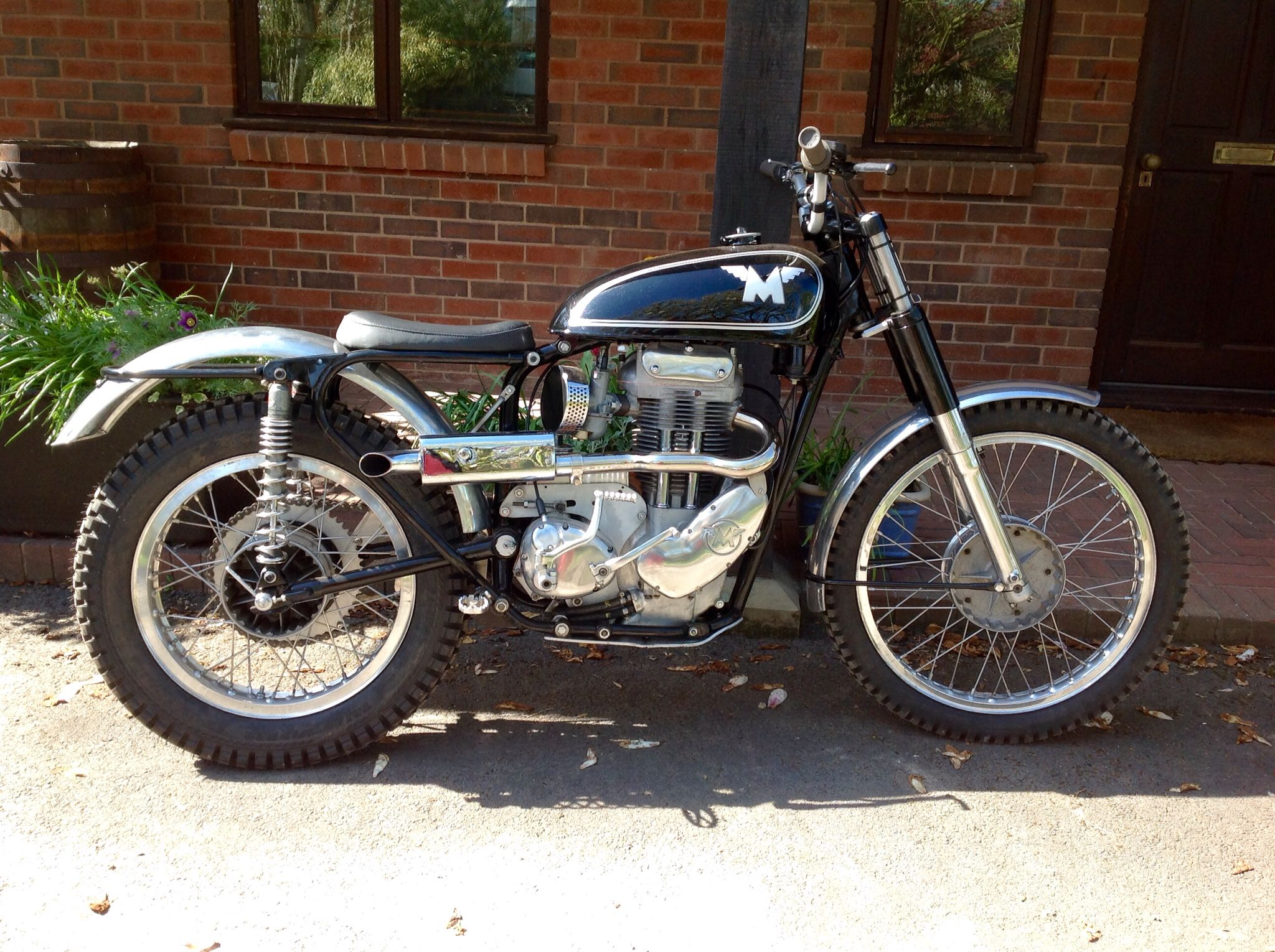 1957 Works Matchless Trials Bike Vintage Bikes Classic Motorcycles Trial Bike