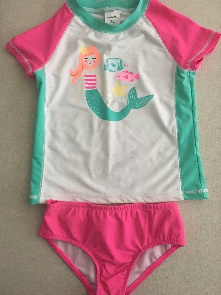Carters Girls 2 Piece Rashguard Set, Mermaid, Size 6X 700140407270 | eBay