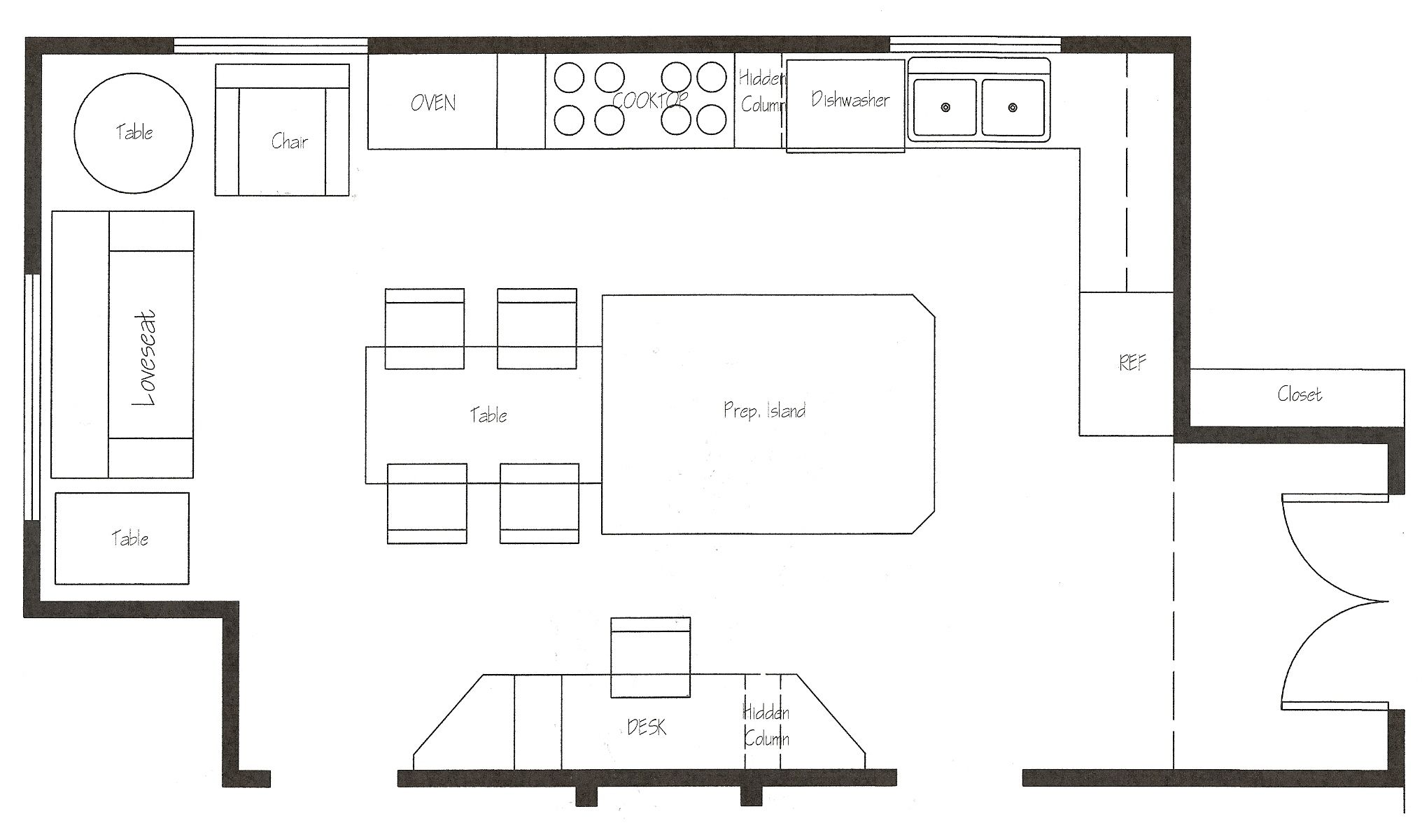 How To Design A Kitchen Layout Free Loft Floor Plans Floor Plan