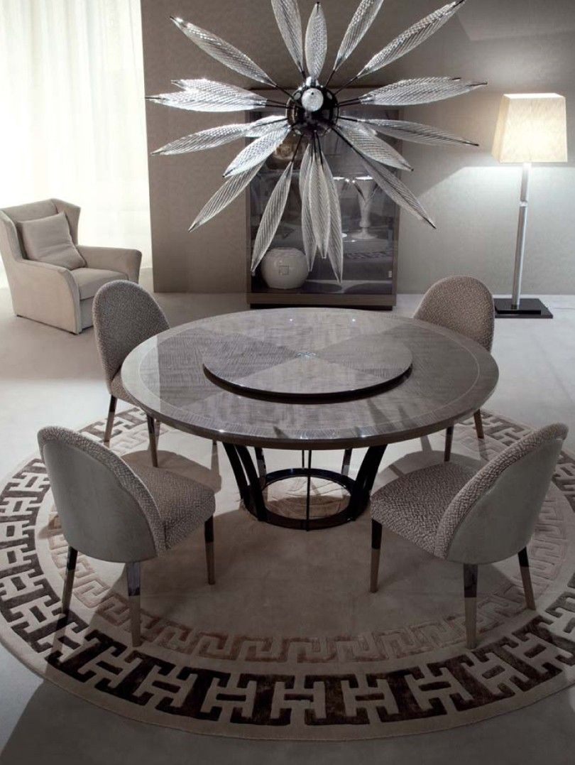 Giorgio Alchemy Italian Furniture Round Dining Table Los