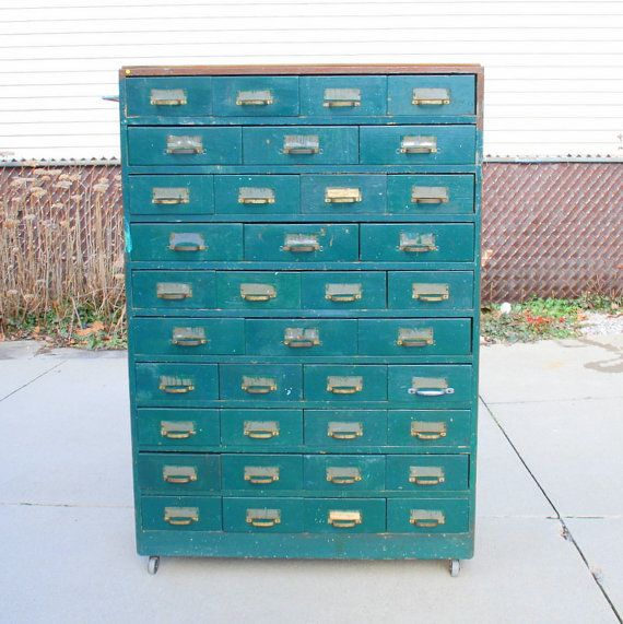 SALE Vintage Industrial Machinist Cabinet with 37 Drawers on Etsy ...