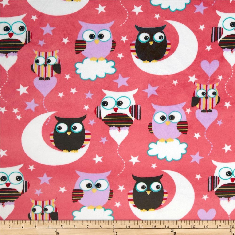 Minky night owls multi night owl owl and fabrics