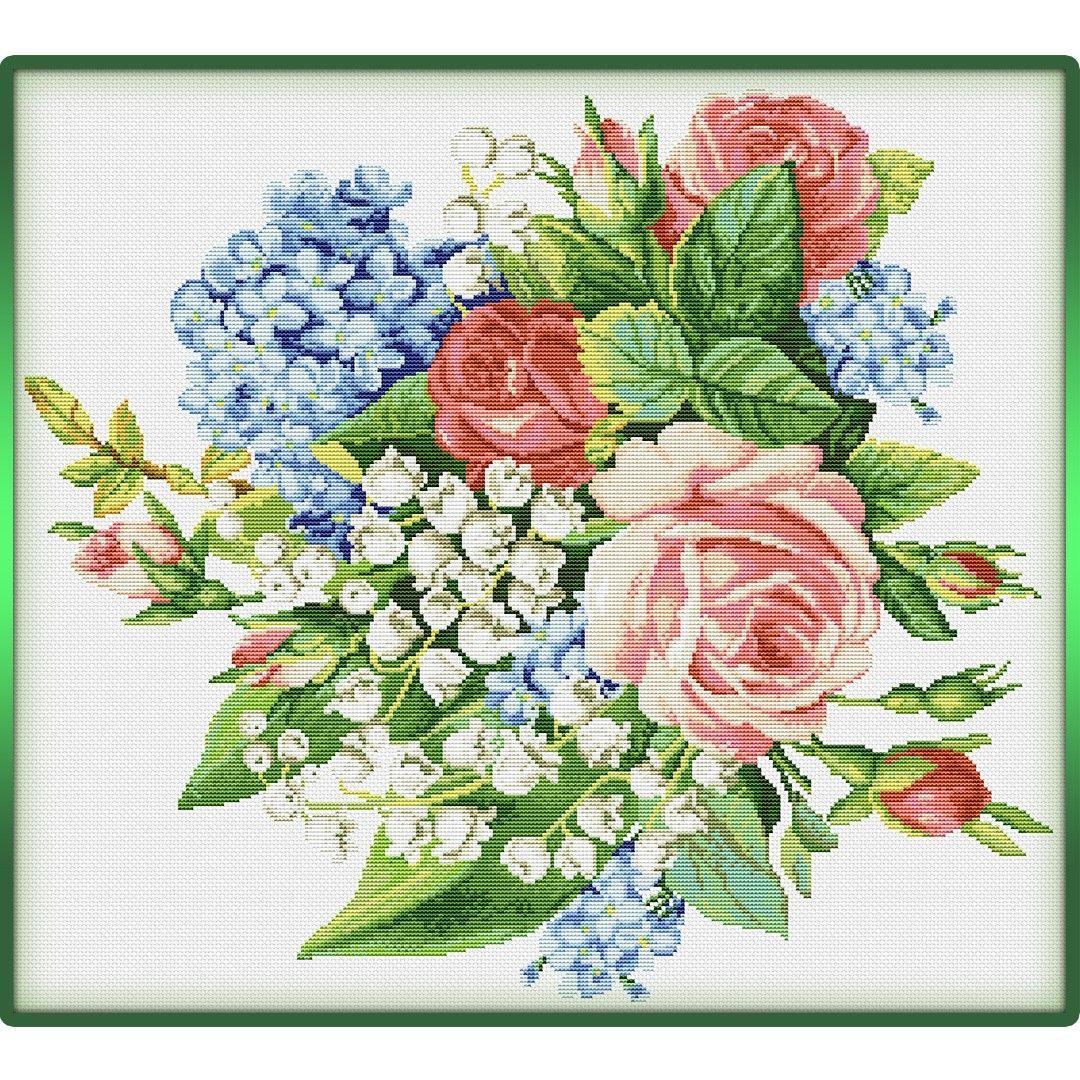 Pin By Betiart On Kwiaty Cross Stitch Flowers Vintage Cross Stitches Cross Stitch