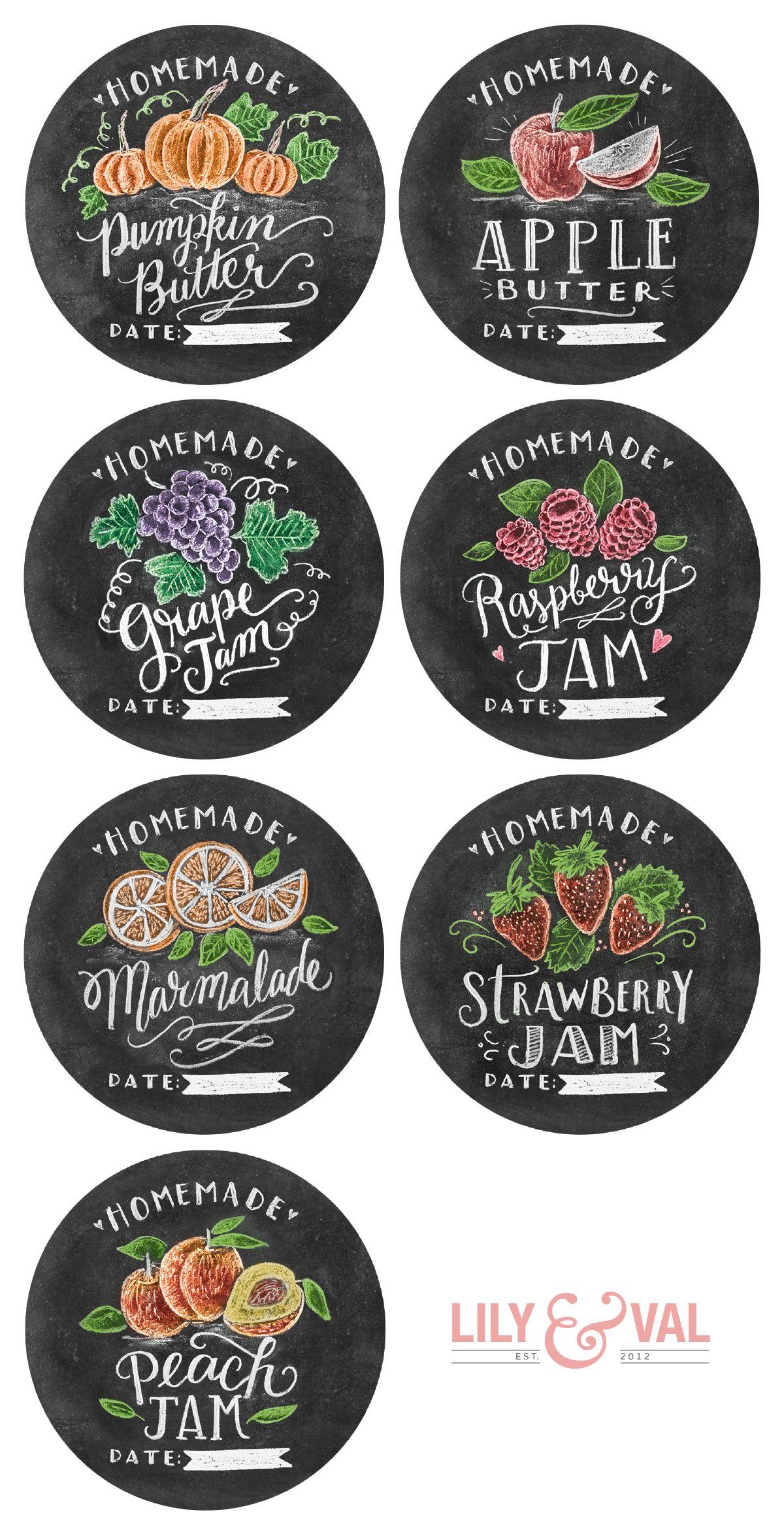Free Printable Hand Drawn Jam Labels Free