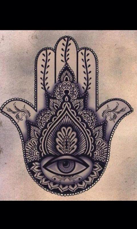Amuletos De La Suerte Valeria Potra Tattoos Hamsa Tattoo Y Tatt