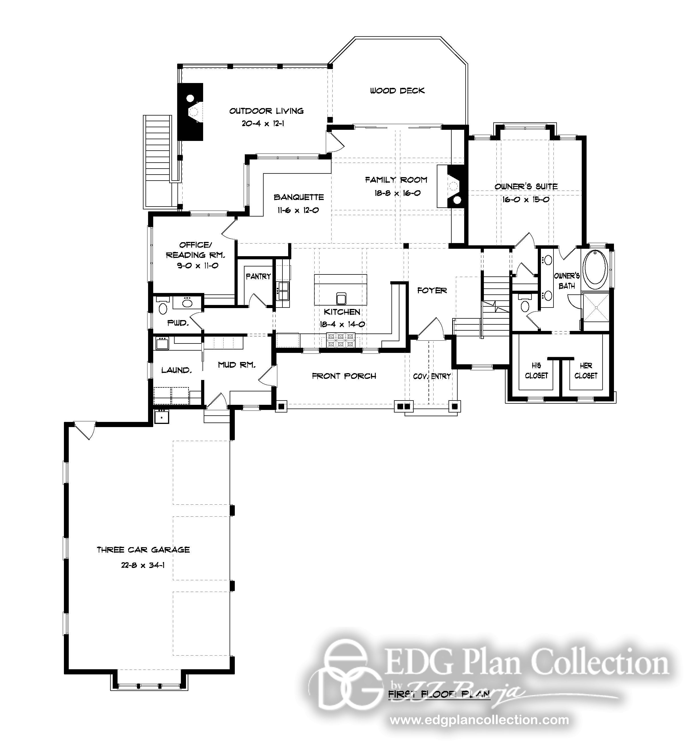 Bungalow House Plan Craftsman House Plan I Like The Wood Deck