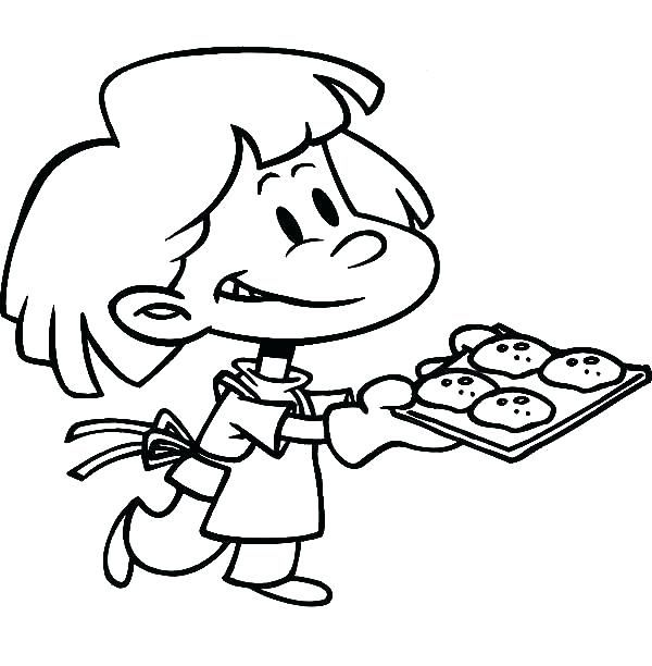 Cookie Coloring Pages Cooking Sheets Coloring Pages For Kids
