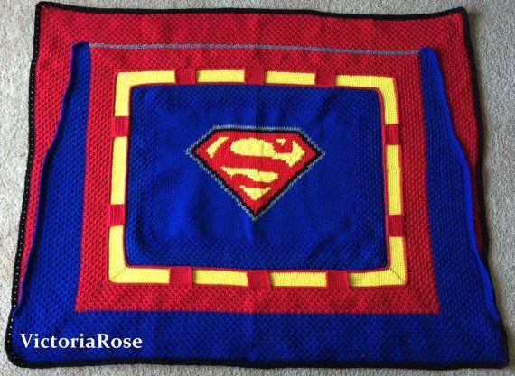 Superman | Blanket | Crochet | Pattern | Justice League | Clark Kent ...