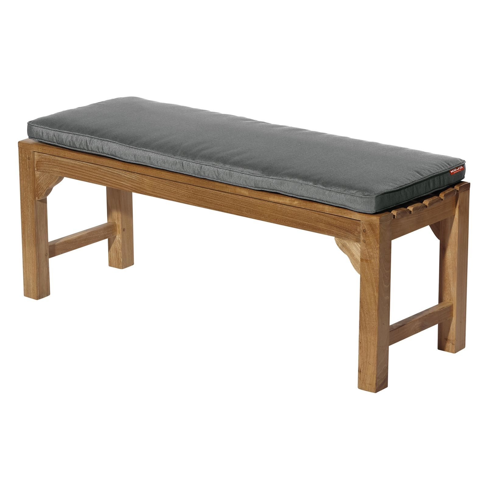 mojo 116 x 48cm grey outdoor bench cushion bunnings warehouse - Outdoor Bench Cushion