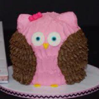 Owl mini cake @Jordan Thomas for our children's bid day?
