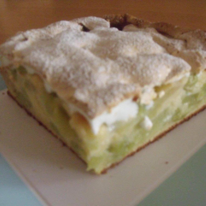 Rezept Rhabarberkuchen mit Baiserhaube von Na Dja - Rezept der Kategorie Backen süß