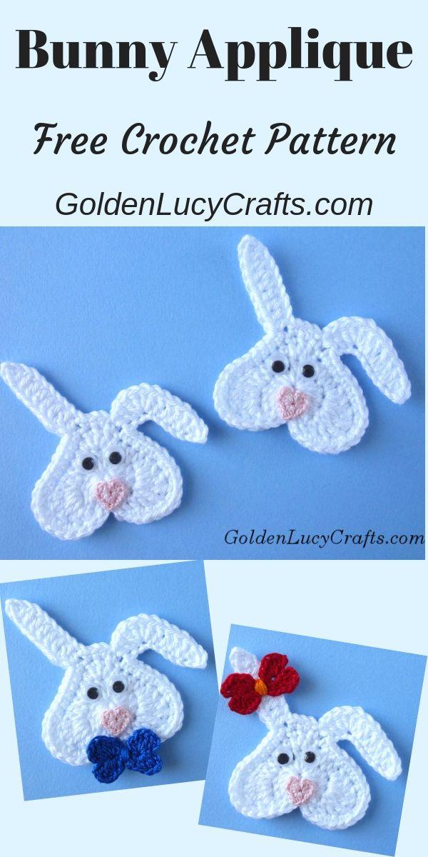 Crochet Bunny, Valentine's Bunny, Easter Bunny, heart-shaped bunny, free crochet pattern