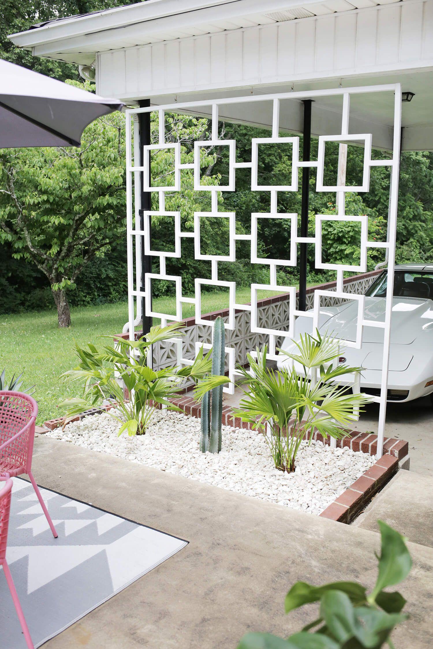 Mid Century Trellis DIY -   23 mid century modern garden ideas