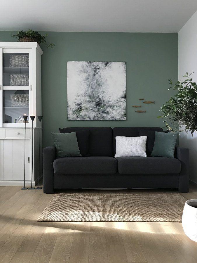 dezembertag  Wandfarbe grün, Wohnzimmerfarbe, Wandfarbe wohnzimmer
