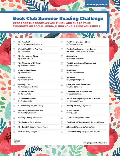 Challenge Your Shelf: Book Club Summer Reading Challenge