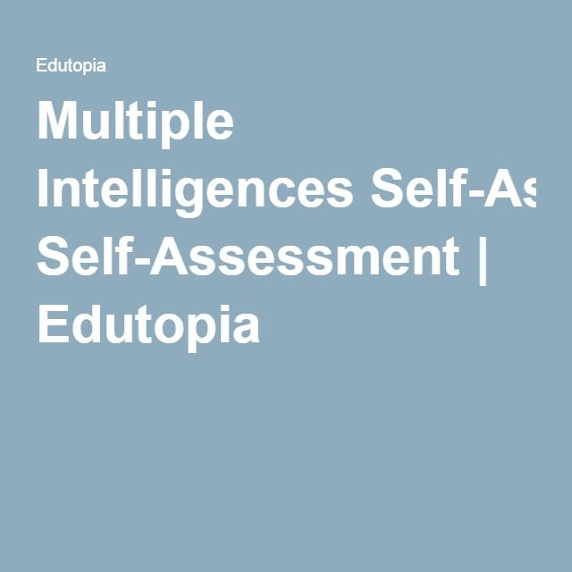 Multiple Intelligences SelfAssessment  Multiple Intelligences