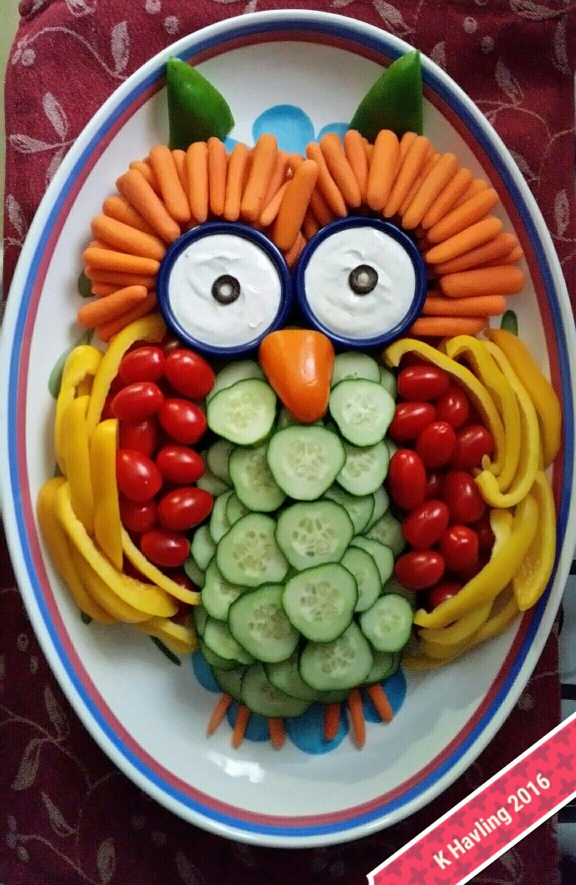 Kalte Gerichte Kinder My Veggie Owl Made For My Mom Copied From Blog