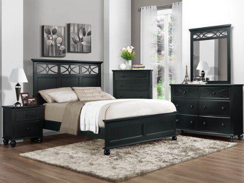 Sanibel 4 Pc Eastern King Bedroom Set By Home Elegance In Black