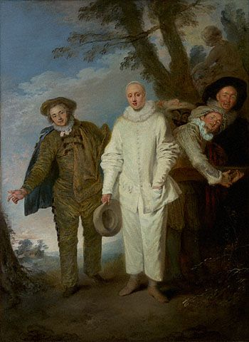 Jean-Antoine Watteau   The Italian Comedians (Getty Museum)