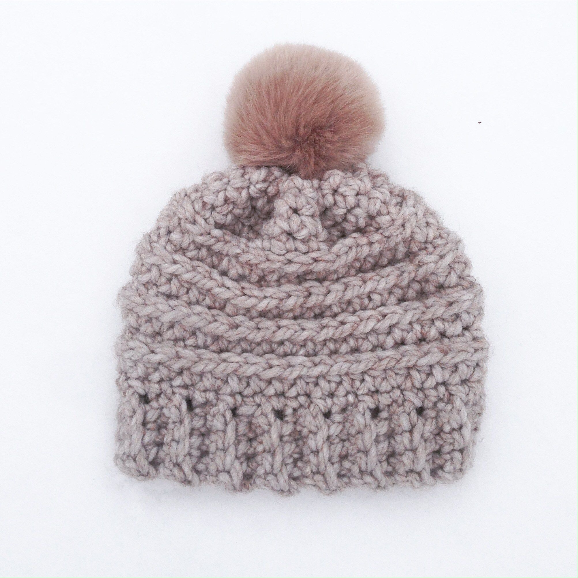 Everyone\'s Favourite Crochet Chunky Beanie - Rustic Stitches ...