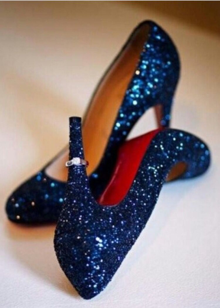 Sparkling Blue Louboutins Dazzling Statement Shoes That Add A Fun