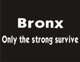 New Custom Screen Printed T Shirt Bronx Only The Strong Survive