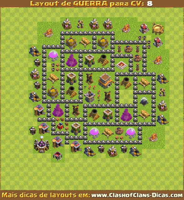layout cv8 guerra clash of clans layouts clash of clans