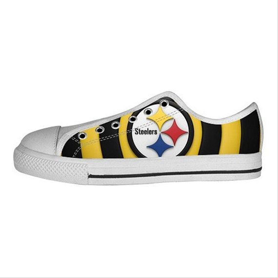 Women's Sneaker Pittsburgh Steelers Custom Canvas by