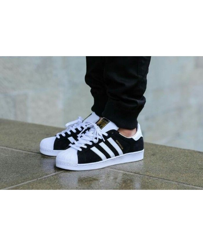 596e43e75d2693 Adidas Superstar Mens Traniers In Black And White On Sale