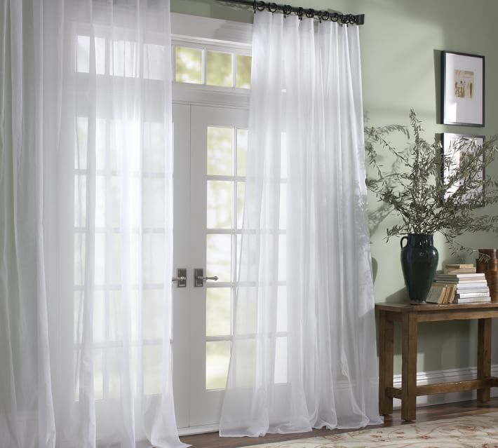 zoom pottery pocket kendra trellis image roll barn products over pole drape sheer c drapes to