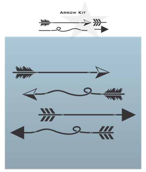 Arrow Kit Arrow Stencil Sign Stencils Arrow Design